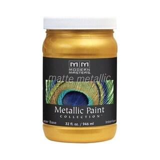 Modern Masters Interior Metallic Paint Pale Gold Matte 1 qt.