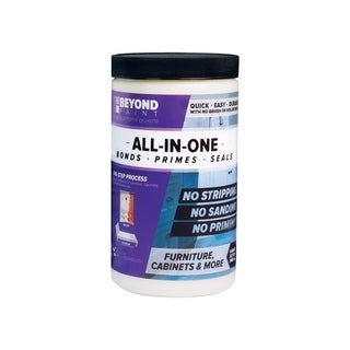 BEYOND PAINT All-In-One Interior/Exterior Acrylic Paint Buttercream Flat 1 qt. Water Base