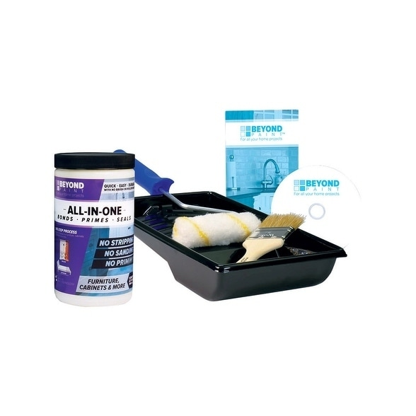 BEYOND PAINT  All-In-One  Interior/Exterior  Acrylic  Paint Kit  Buttercream  Flat  1 qt. Water Base