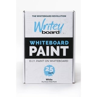 Writey Board Hi-Gloss White Whiteboard Paint Low VOC White 25 sq. ft.