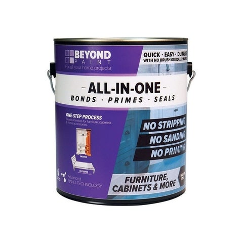 BEYOND PAINT All-In-One Interior/Exterior Acrylic Cabinet Refinishing System Soft Gray Flat 1 gal.