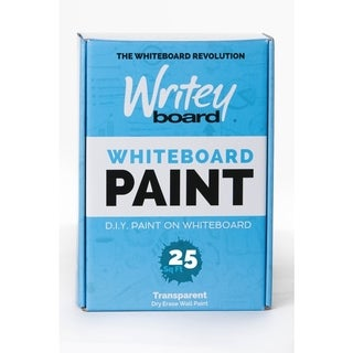 Writey Board Hi-Gloss Whiteboard Paint Low VOC Transparent 25 sq. ft.