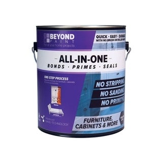 BEYOND PAINT All-In-One Interior/Exterior Acrylic Paint Mocha Flat 1 gal. Water Base