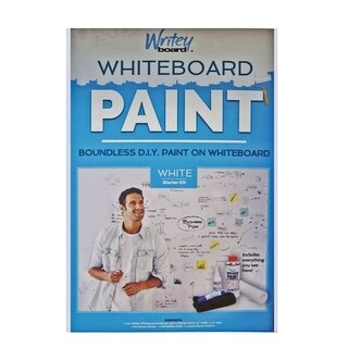 Writey Board Hi-Gloss White Whiteboard Paint Low VOC White 17 oz.