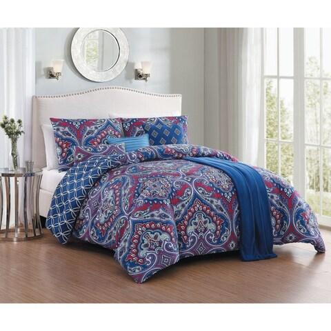 Avondale Manor Cantara 7-piece Comforter Set with Bonus Throw