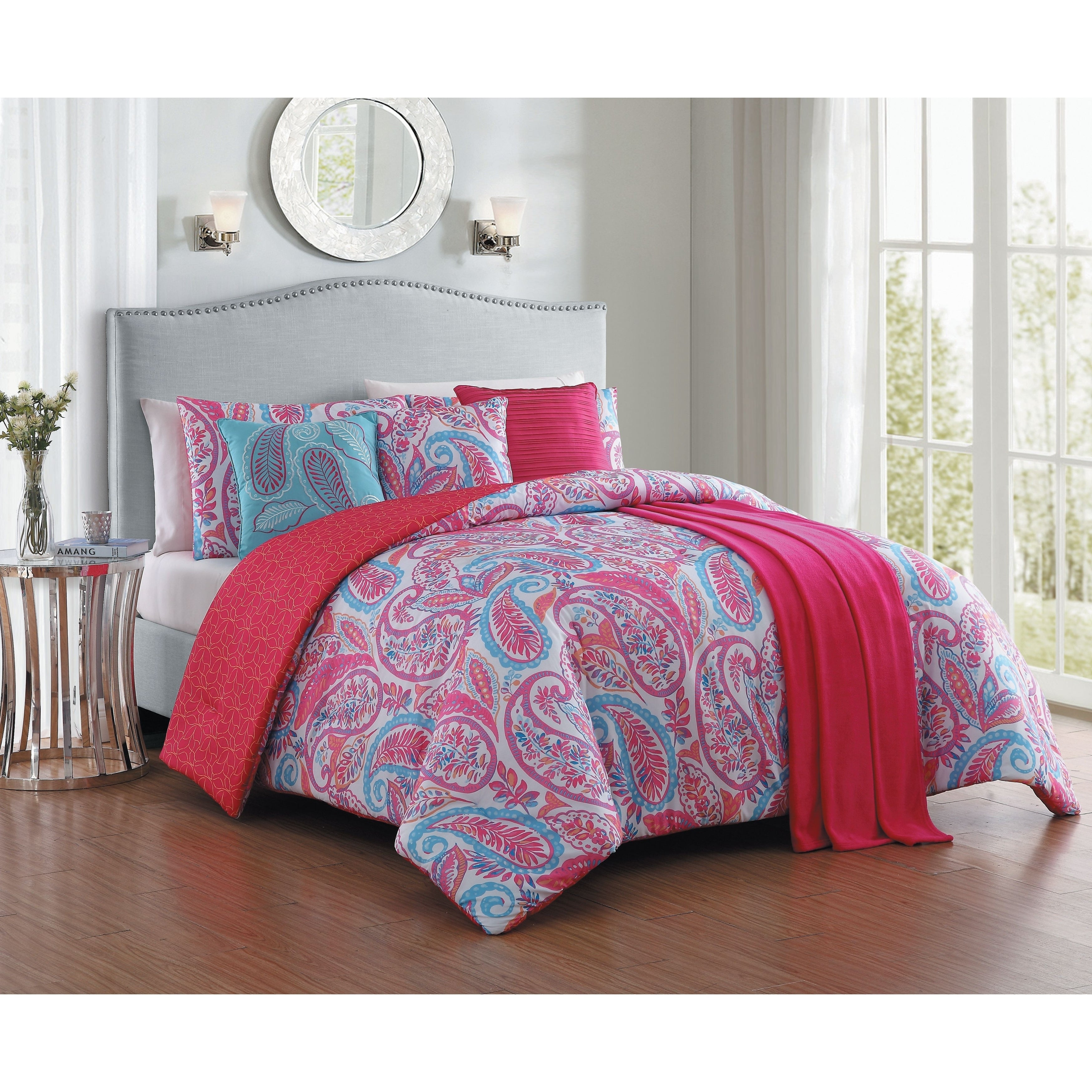 Avondale Manor Seville 3 Piece Quilt Set King Pink