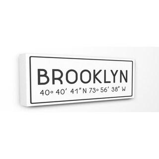 Stupell Industries Coordinates Brooklyn Wall Art - 10 x 24