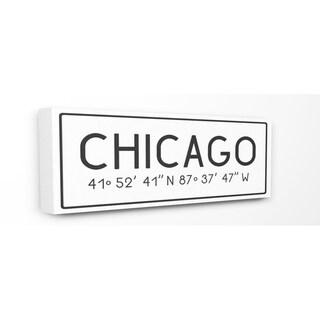 Stupell Industries Coordinates Chicago Wall Art - 10 x 24
