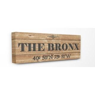 Stupell Industries Coordinates The Bronx Wall Art - 10 x 24