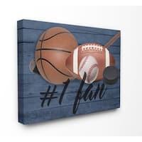 Stupell Industries No.1 Fan Sports Plank Wall Art