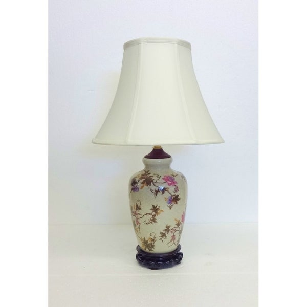 Autumn Floral Ivy Porcelain Table Lamp