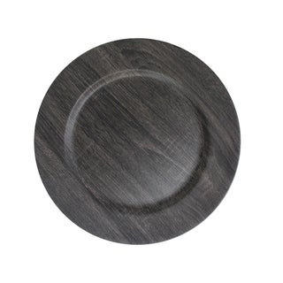 Poplar Dark Gray Charger Plates