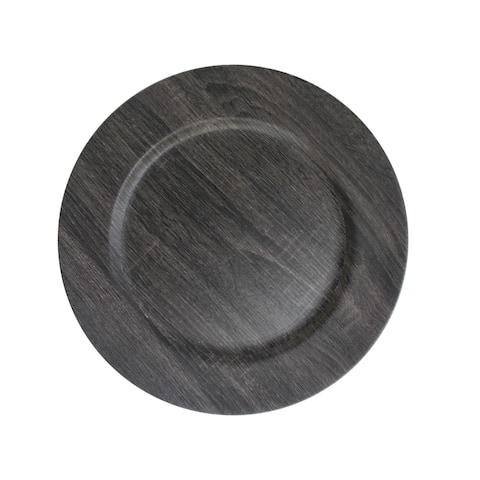 Poplar Dark Gray Charger Plates