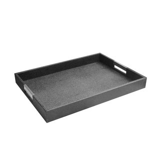 Rectangular Serving Tray With Silver Handles