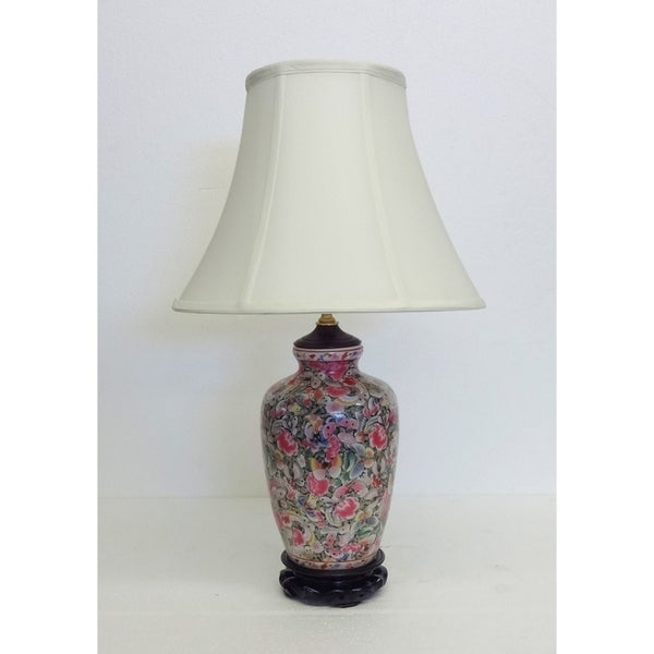 Butterfly Menagerie Multicolored Porcelain Table Lamp