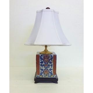 Batik Blue U0026 White Porcelain Lamp