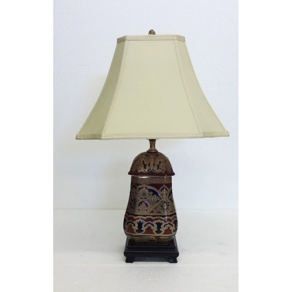 Regal Bombay Square Porcelain Table Lamp