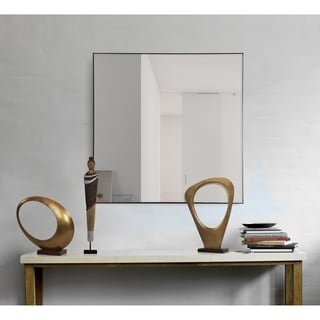 Tomi Framed Square Wall Mirror - Black