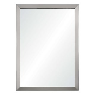 Villette Framed Rectangular Wall Mirror - Satin Nickel
