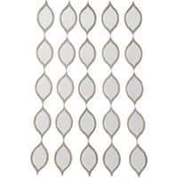 Galilee Framed Irregular Wall Mirror - Champagne/Silver