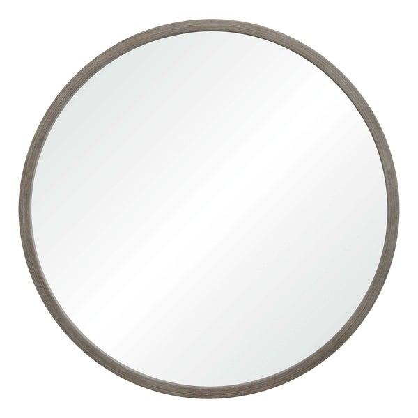 Shop Montana Framed Round Wall Mirror Grey On Sale
