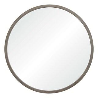 Renwil Montana Grey Wood Framed Round Wall Mirror