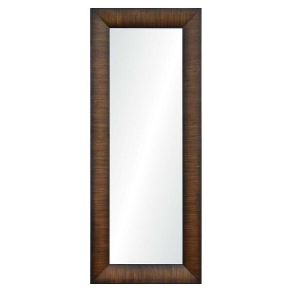 Winston Framed Rectangular Wall Mirror - Brown
