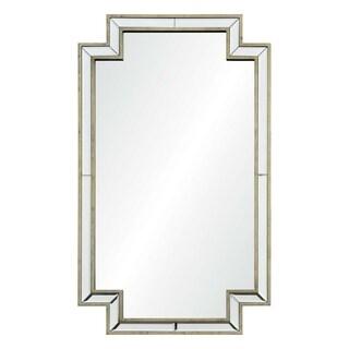 Cambert Framed Rectangular Wall Mirror - Antique Silver