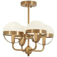 Minka Lavery Tannehill 4-Light Antique Noble Brass Semi Flush