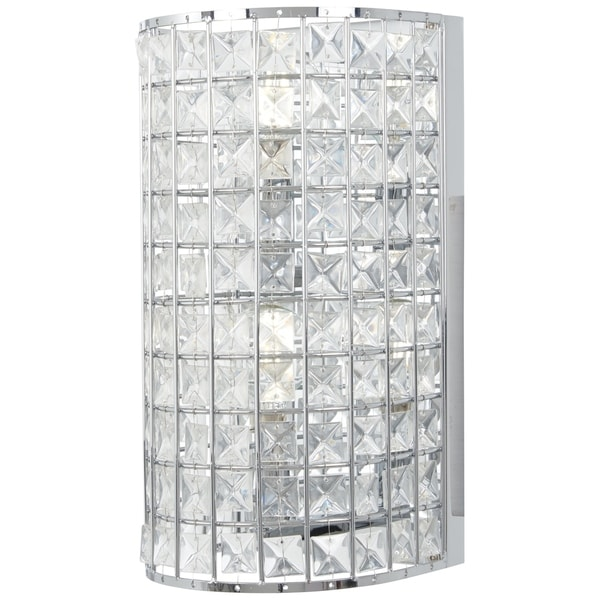 Minka Lavery Palermo Crystal Accent Chrome Metal 2-light Wall Sconce