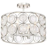 Minka Lavery Culture Chic 4-Light Catalina Silver Semi Flush
