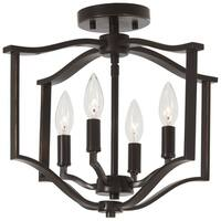 Minka Lavery Elyton 4-Light Downton Bronze With Gold Highl Semi Flush - Brown