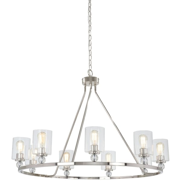Minka Lavery Studio 5 9-Light Polished Nickel Chandelier