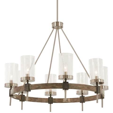 Minka Lavery Bridlewood 8-Light Stone Grey W/Brushed Nickel Chandelier
