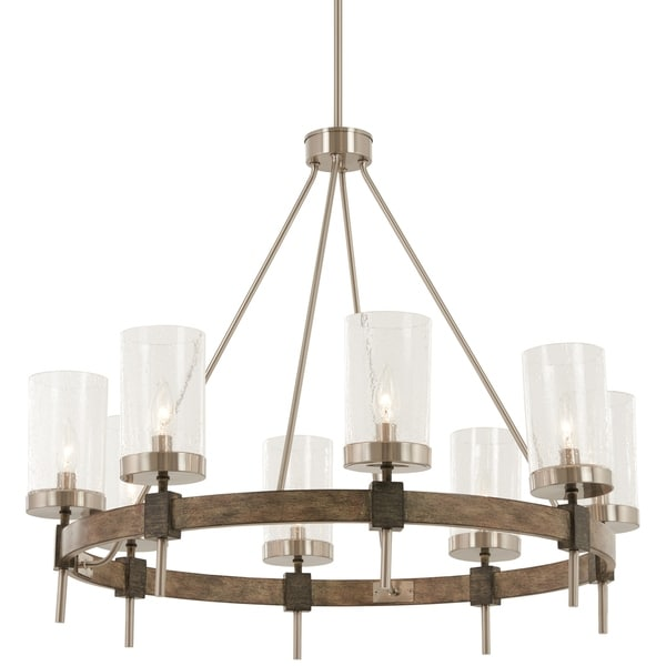 Shop minka lavery bridlewood 8 light stone grey wbrushed nickel minka lavery bridlewood 8 light stone grey wbrushed nickel chandelier aloadofball Image collections