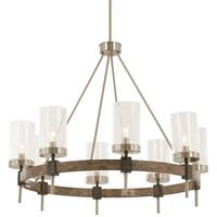 Minka Lavery Bridlewood 8-light Stone Grey With Brushed Nickel Chandelier