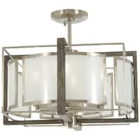 Minka Lavery Tyson'S Gate 4-Light Brushed Nickel W/Shale Wood Pendant