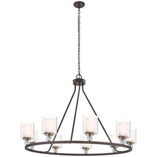 Link to Minka Lavery Studio 5 9-Light Painted Bronze W/Natural Brush Chandelier Similar Items in Swimming Pool Store