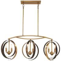 Minka Lavery Criterium 6-Light Aged Brass W/Textured Iron Island Light