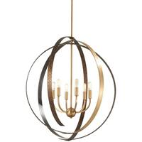 Minka Lavery Criterium Aged Brass and Forged Iron 6-light Pendant