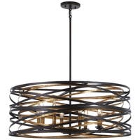 Minka Lavery Vortic Flow 8-Light Dark Bronze W/Mosaic Gold Inte Pendant