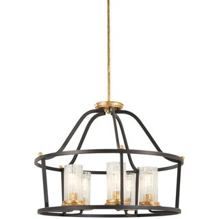 Link to Minka Lavery Posh Horizon 5-Light Sand Black W/Gold Leaf Pendant Similar Items in Planters, Hangers & Stands