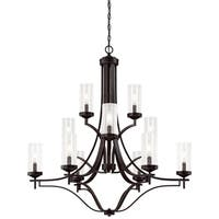 Minka Lavery Elyton 12-Light Downtown Bronze with Gold Highlights Chandelier