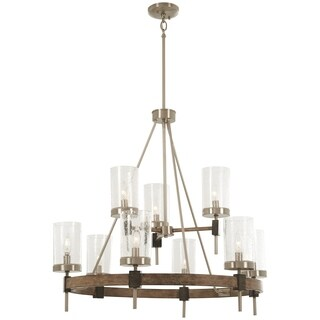 Minka Lavery Bridlewood 9-Light Stone Grey W/Brushed Nickel Chandelier
