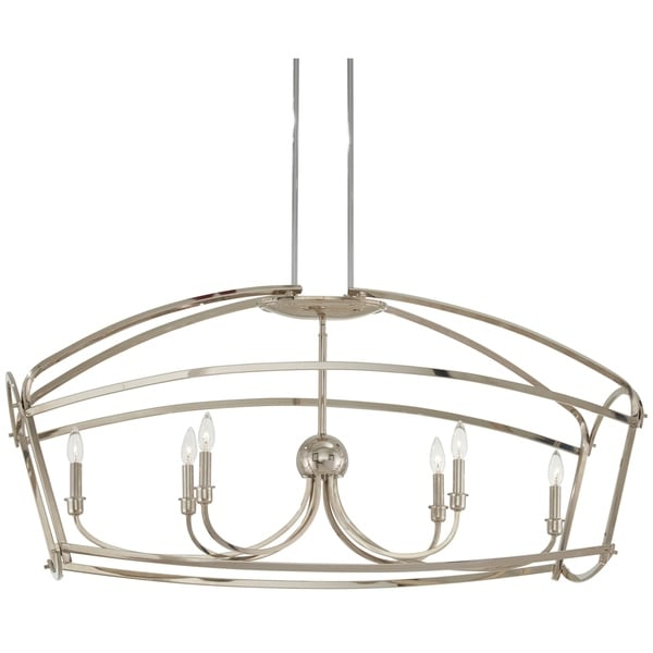 Minka Lavery Jupiter'S Canopy 6-Light Polished Nickel Island Light - Silver