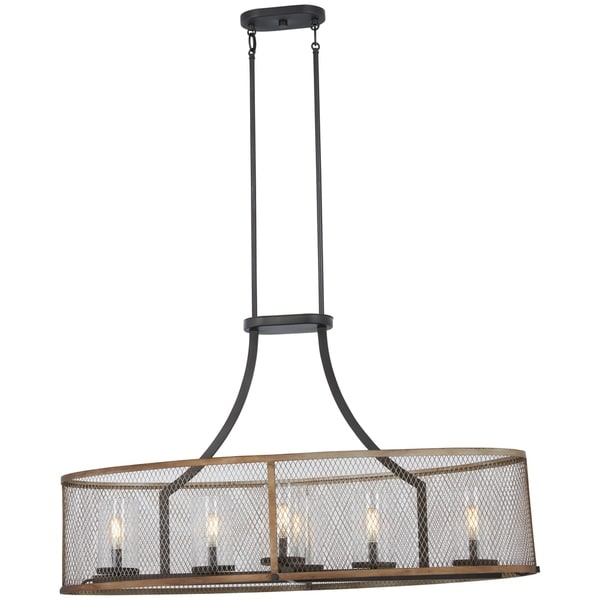 Minka Lavery Marsden Commons 6-Light Smoked Iron W/Aged Gold Island Light