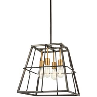 Link to Minka Lavery Keeley Calle 4-Light Painted Bronze W/Natural Brush Pendant Similar Items in Table Lamps