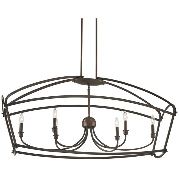 Minka Lavery Jupiter'S Canopy 6-Light Harvard Court Bronze (Plated) Island Light