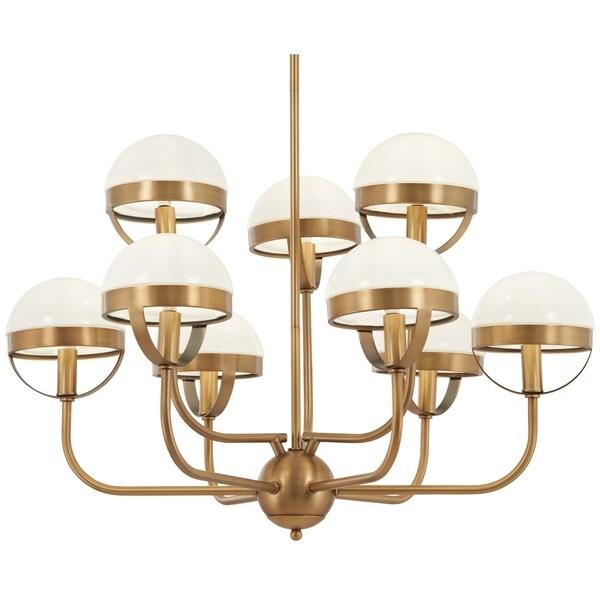Minka Lavery Tannehill 9-Light Antique Noble Brass Chandelier