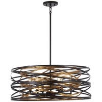 Minka Lavery Vortic Flow 6-Light Dark Bronze W/Mosaic Gold Inte Pendant